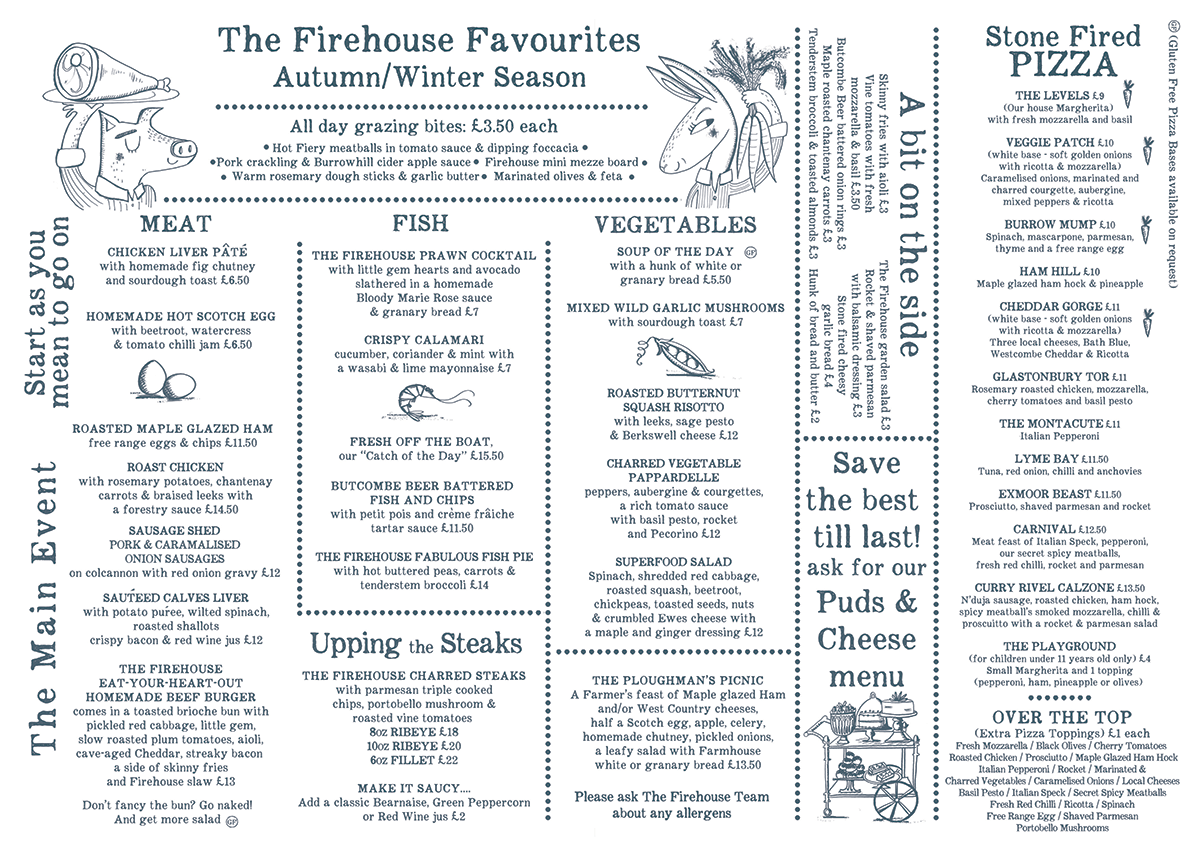 From the kitchen the firehouse for Perfect kitchen takeaway menu harrogate
